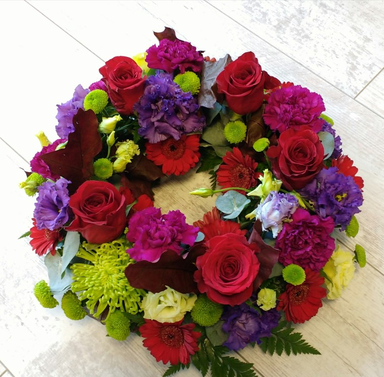 Wreath Of Flowers Quality Florist In Wexford Sending Flowers For