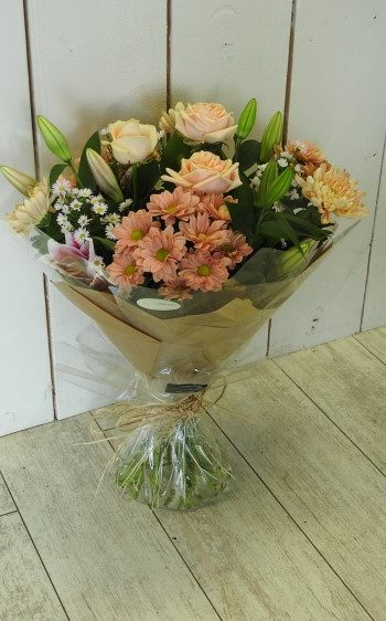 flowers hand tied pretty pastels