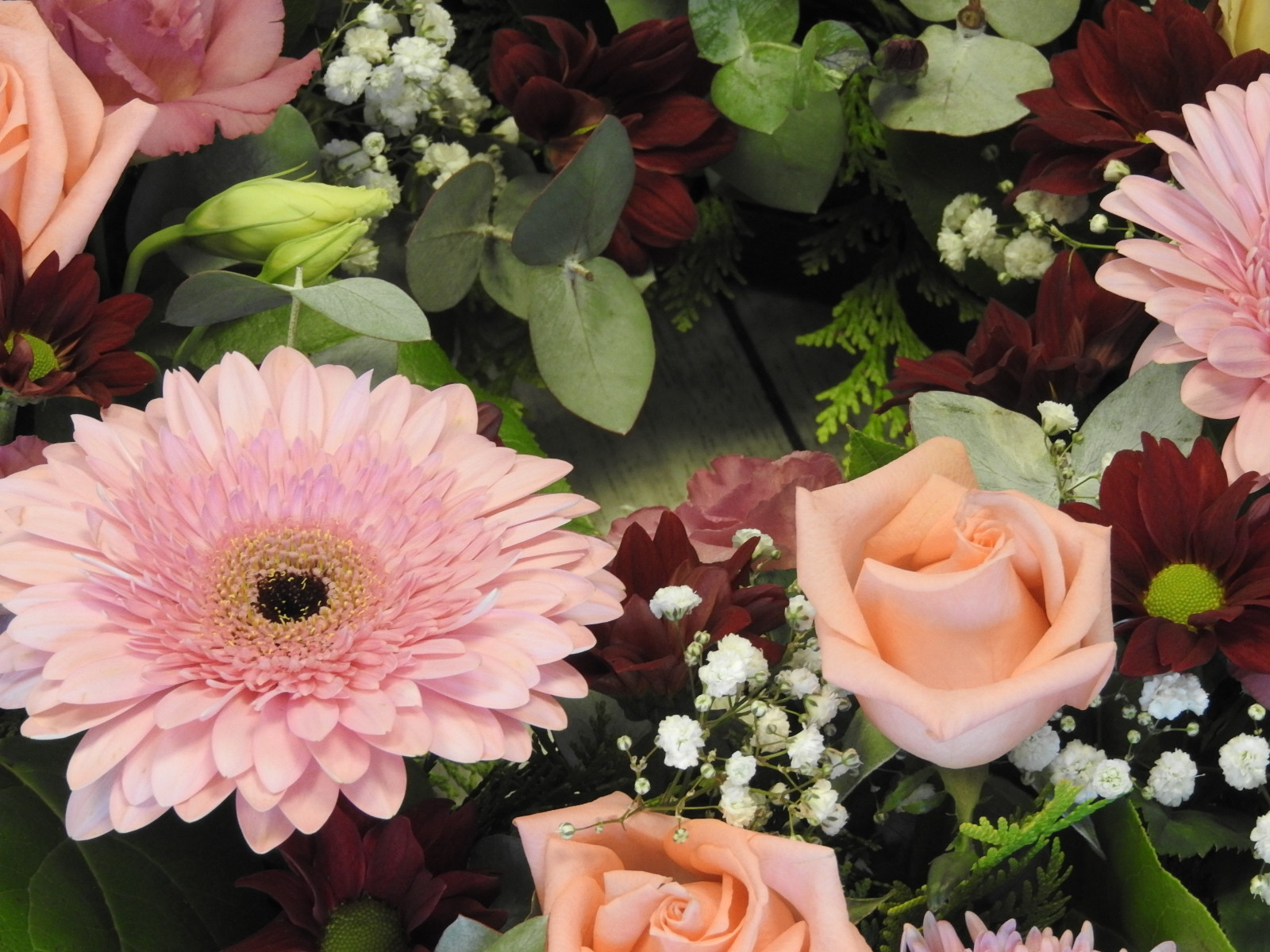 funeral flowers wreath pinks same day delivery wexfordLilyBloom Florist