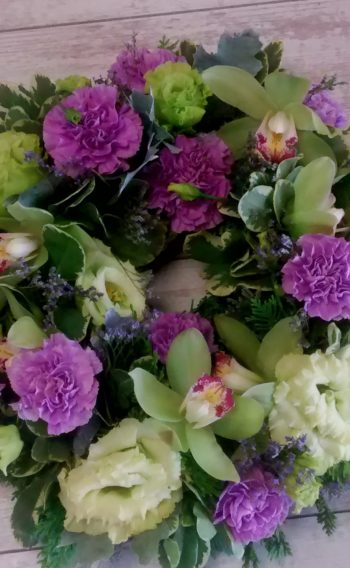 funeral flowers in pink
